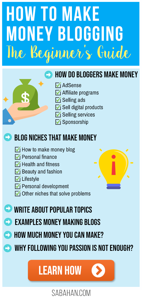 Learn how to make more money blogging. How do bloggers make money? #makemoneyblogging #blogformoney #howtomonetizeablog #makemoneyblog