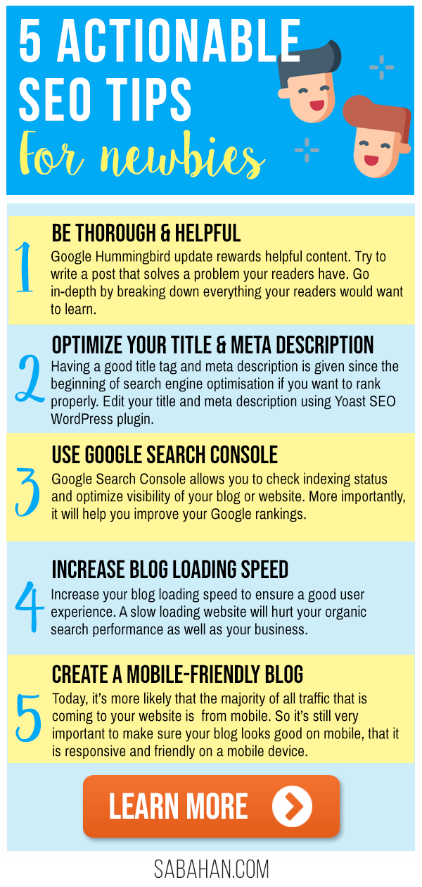 Learn SEO tips for beginners. This article contains 5+ SEO tips and tricks to help you rank on Google and other search engines. Read now! #seotips #seo #seoforbeginners #blogseo