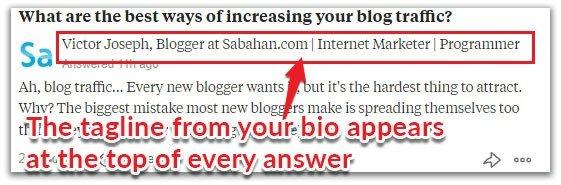Quora tagline headline
