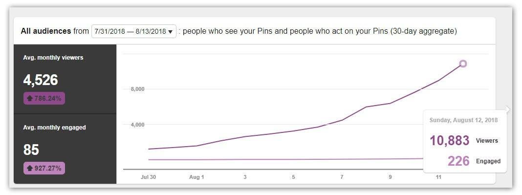 pinterest traffic views analytics