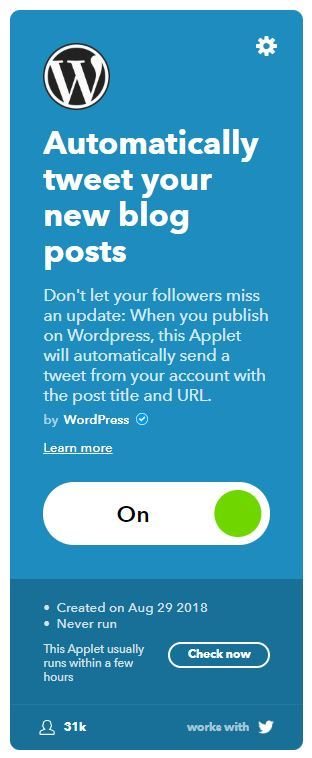 ifttt wordpress