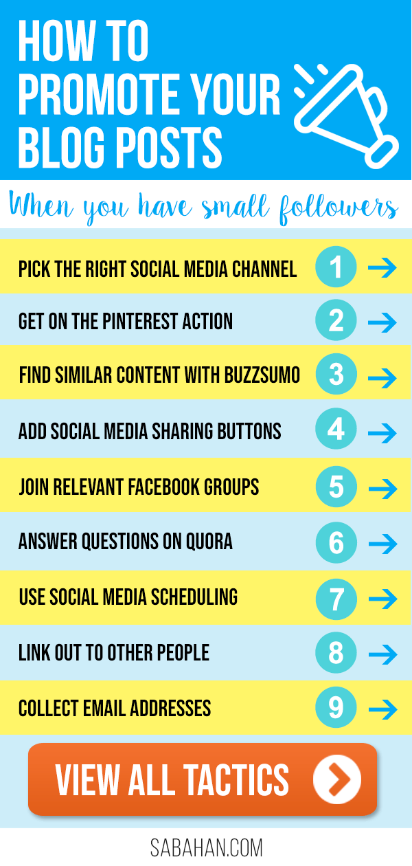 Learn how to promote your blog posts - leverage the social media channels and marketing tools #blogpromotion #increaseblogtraffic #promoteonsocialmedia