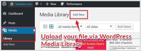 hosting lead magnet file