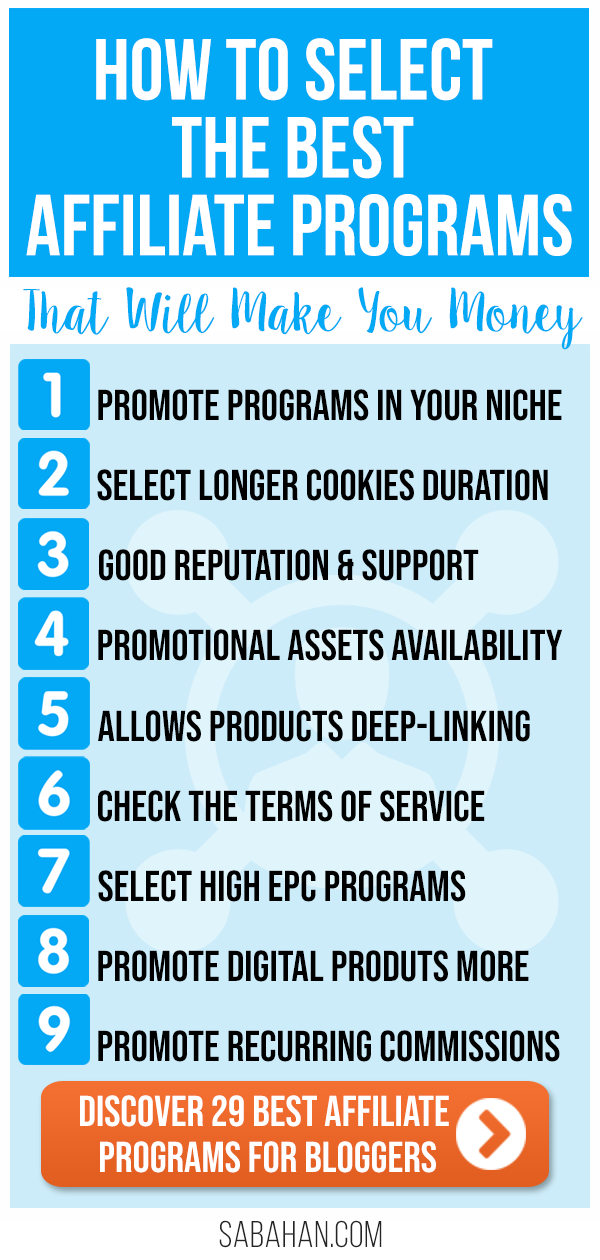 Discover the best affiliate programs for bloggers that will make you money. #affiliateprograms #passiveincome #bestaffiliateprogams #makemoney